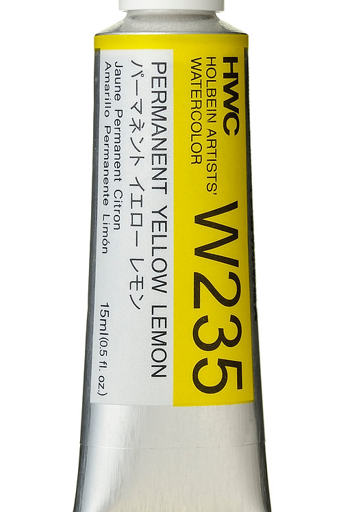 W235 Holbein Artists' Watercolour 15ml - Permanent Yellow Lemon