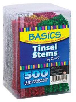 Basics Tinsel Stems 15cm