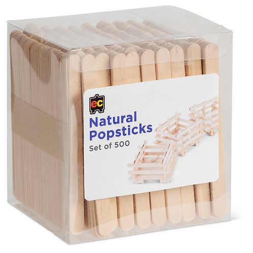 PSN500 Natural Popsticks (Set of 500)