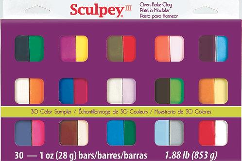 Sculpey III 30pc Sampler Pack