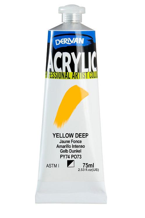 Derivan Acrylic - Yellow Deep