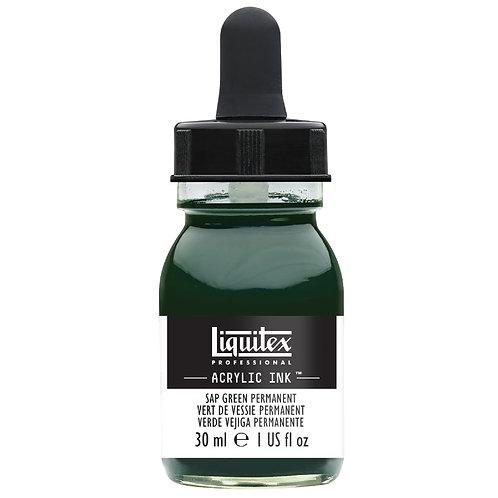 315 Liquitex Acrylic Ink 30ml - Sap green Permanent