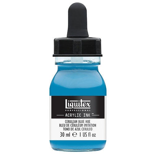 470 Liquitex Acrylic Ink 30ml - Cerulean Blue Hue