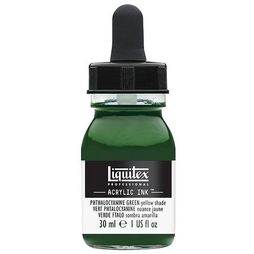 319 Liquitex Acrylic Ink 30ml - Phthalocyanine Green Yellow Shade