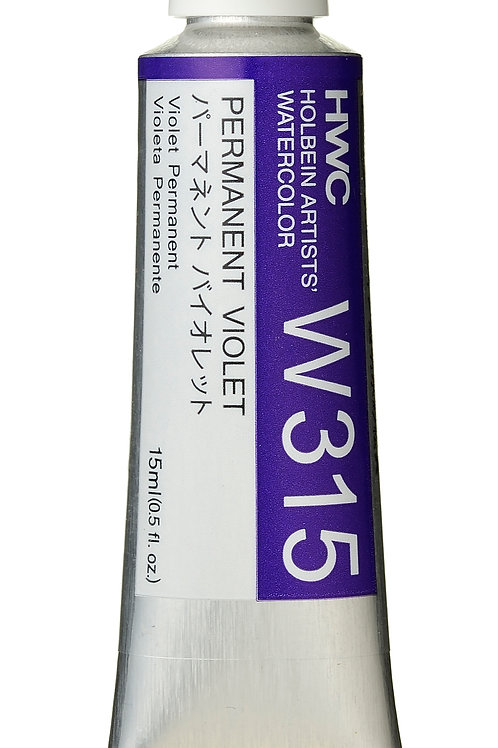 W315 Holbein Artists' Watercolour 15ml - Permanent Violet
