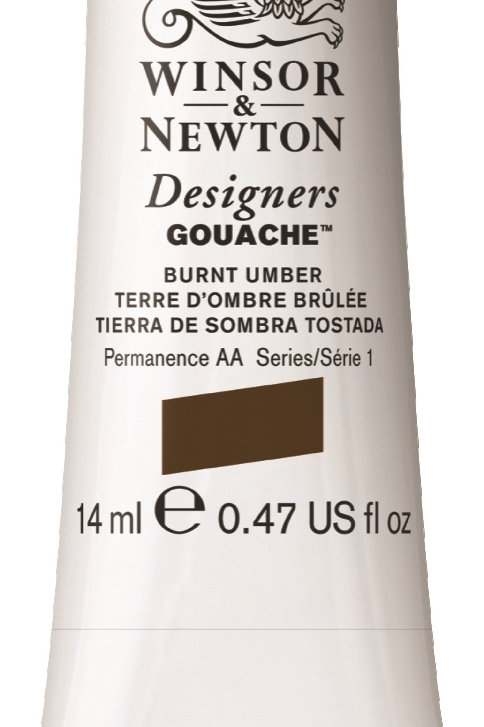 076 W&N Designers' Gouache 14ml - Burnt Umber