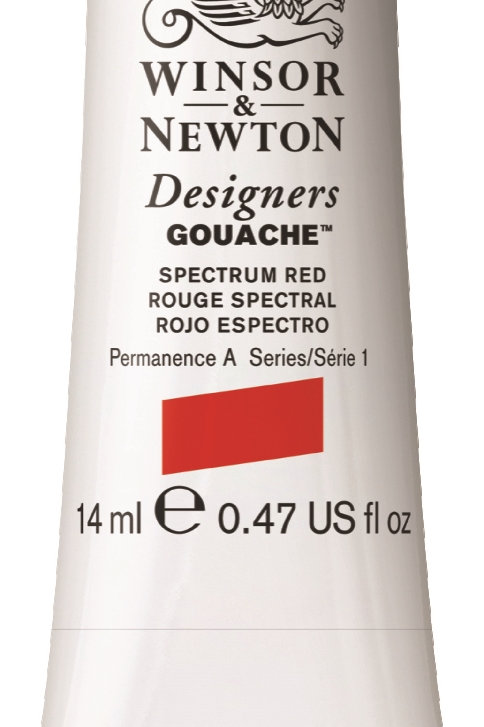623 W&N Designers' Gouache 14ml - Spectrum Red