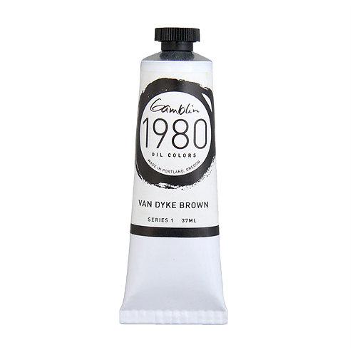 7720 Gamblin 1980 Oil Colour 37ml - Van Dyke Brown
