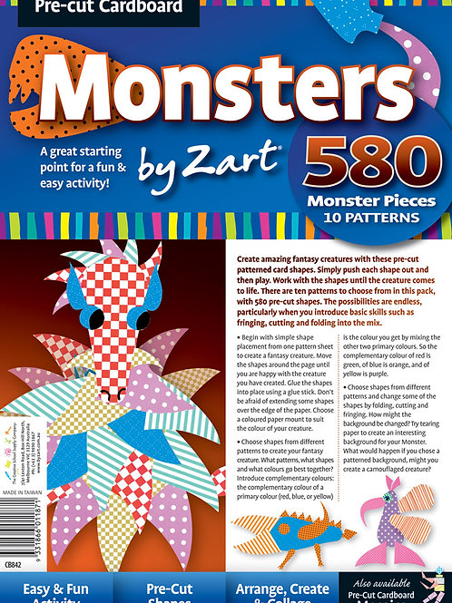 CB842 CS Cardboard Crazy Monster Shapes