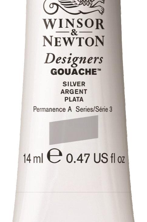 617 W&N Designers' Gouache 14ml - Silver (Imitation)