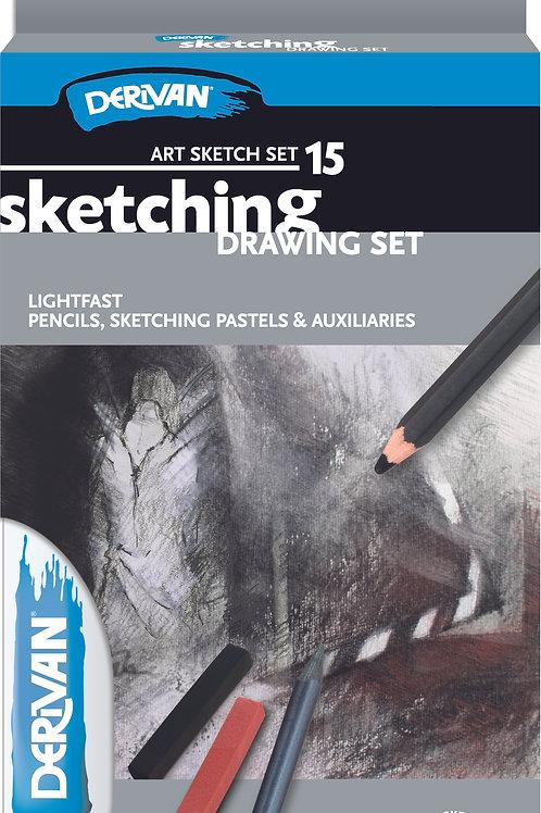 Derivan Drawing Pencil Set 15