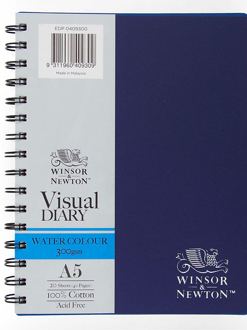 Winsor & Newton W&N Double Wire Water Colour Visual Diary A5