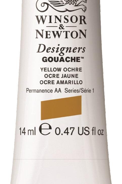 744 W&N Designers' Gouache 14ml -Yellow Ochre