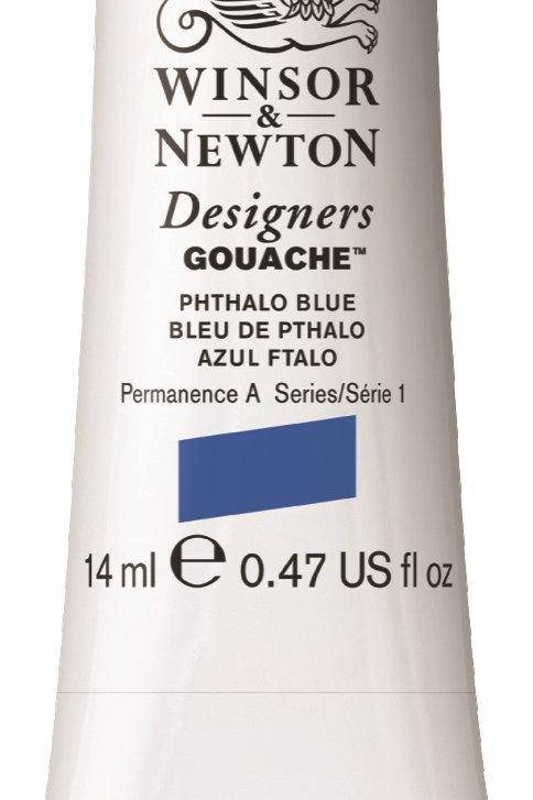 514 W&N Designers' Gouache 14ml - Phthalo Blue