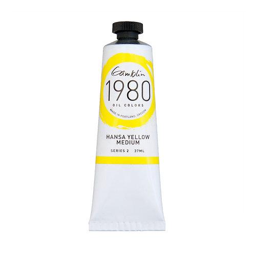 Gamblin 1980 Oil Colour - Hansa Yellow Medium