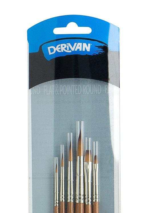 Derivan Golden Synthetic Brass Ferrule 6 Sets