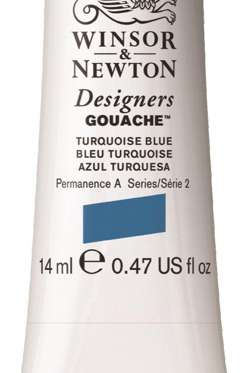 656 W&N Designers' Gouache 14ml - Turquoise Blue