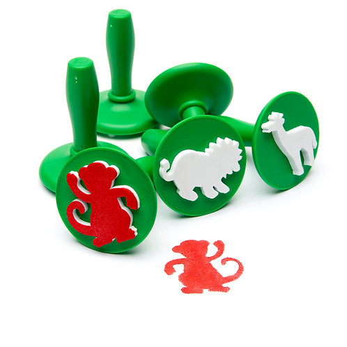 PSTJ6 EC Paint & Dough Stampers Jungle Animals (Set of 6)