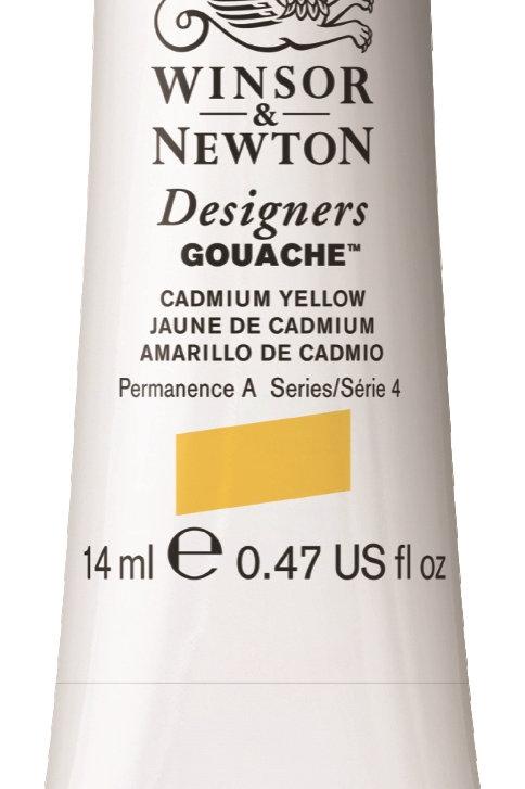 108 W&N Designers' Gouache 14ml - Cadmium Yellow