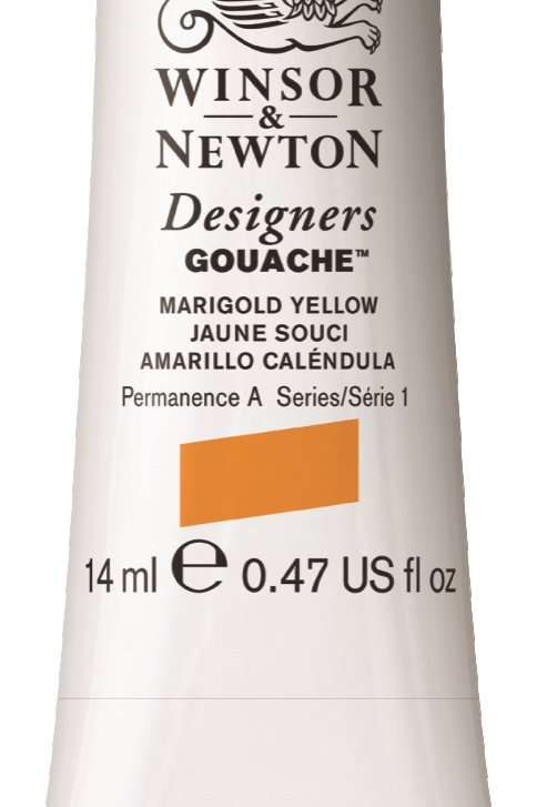 384 W&N Designers' Gouache 14ml - Marigold Yellow