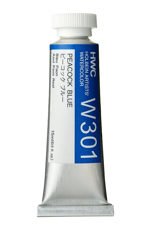 W301 Holbein Artists' Watercolour 15ml - Peacock Blue