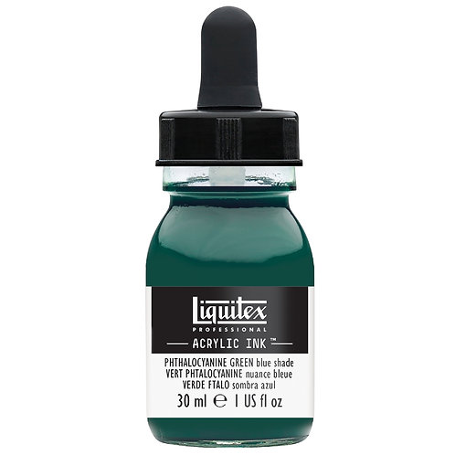 317 Liquitex Acrylic Ink 30ml - Phthalocyanine Green Blue Shade