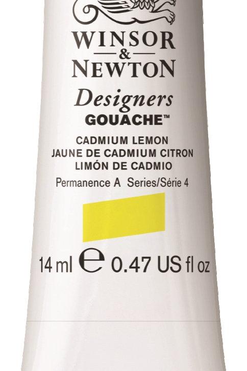 086 W&N Designers' Gouache 14ml - Cadmium Lemon