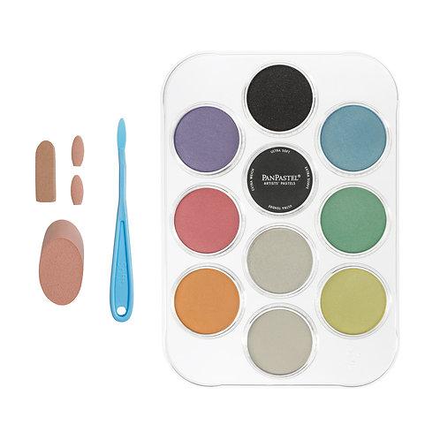PanPastel Pearlescent & Mediums Kit (10 Pans)