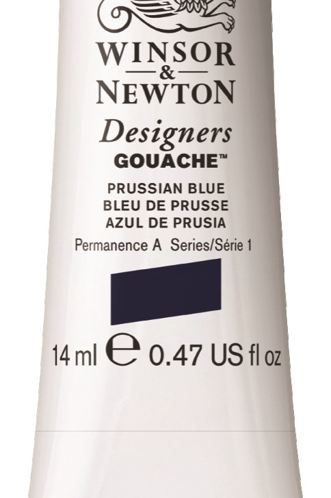 538 W&N Designers' Gouache 14ml - Prussian Blue