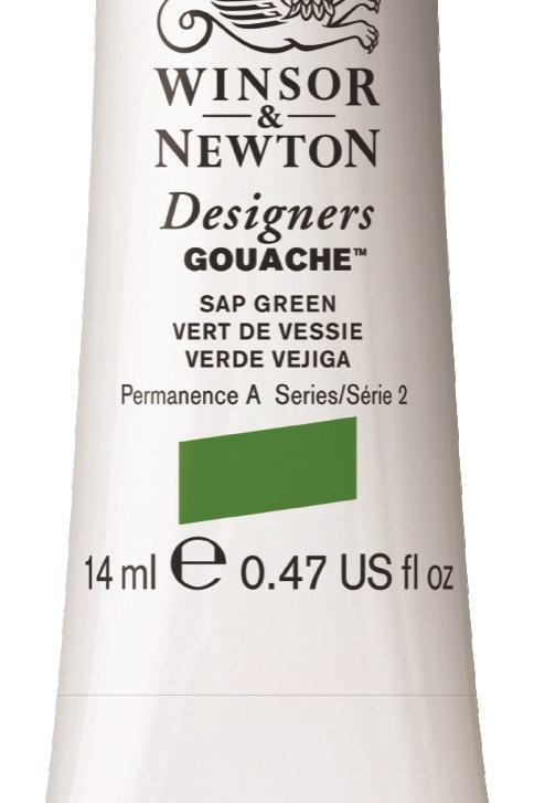 599 W&N Designers' Gouache 14ml - Sap Green