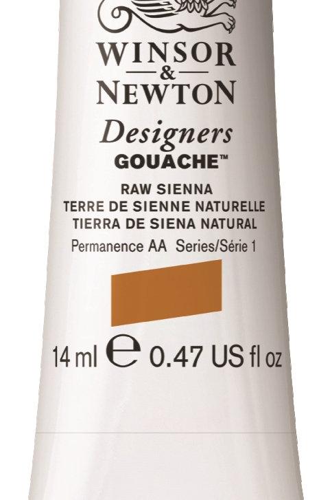 552 W&N Designers' Gouache 14ml - Raw Sienna