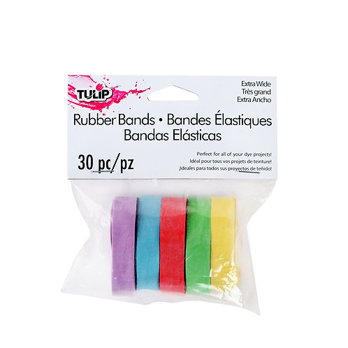 Tulip Wide Rubber Bands 30pc