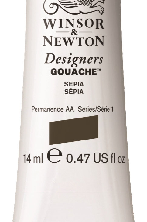 609 W&N Designers' Gouache 14ml - Sepia