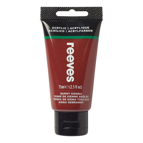 520 Reeves Artists' Acrylic Tube - Burnt Sienna