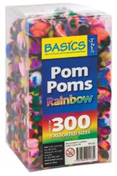 PP102 CS Basics - Pom Poms Rainbow