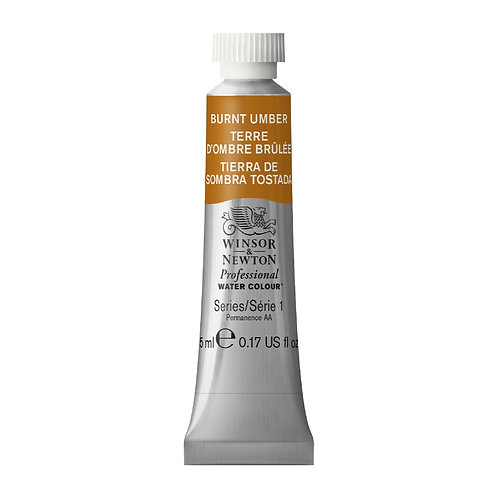 076 W&N Professional Water Colour - Burnt Umber