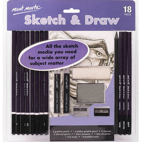 MPN0039 MM Sketch & Draw Set 18pc