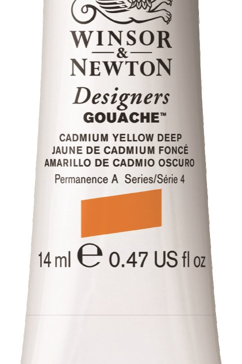 111 W&N Designers' Gouache 14ml - Cadmium Yellow Deep