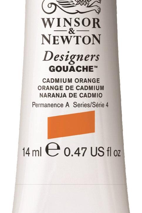 089 W&N Designers' Gouache 14ml - Cadmium Orange