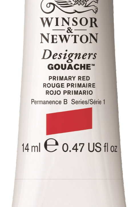 524 W&N Designers' Gouache 14ml - Primary Red