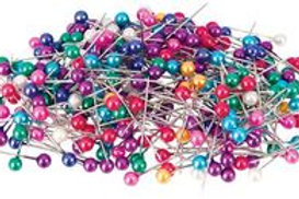 Pi110 Pearl Headed Pins - Assorted Colours