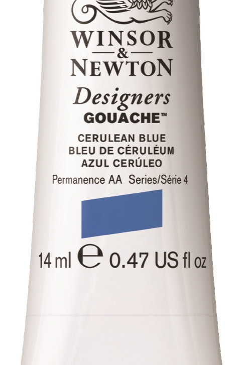 137 W&N Designers' Gouache 14ml - Cerulean Blue