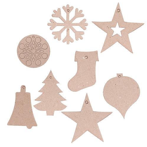 BW929 Papier Mache Christmas Decorations