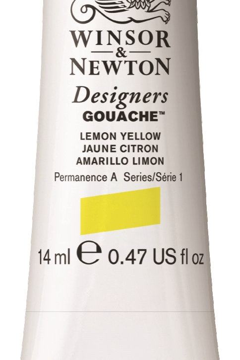 345 W&N Designers' Gouache 14ml - Lemon Yellow