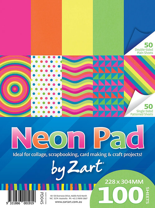 PD045 CS Neon Pad Assorted