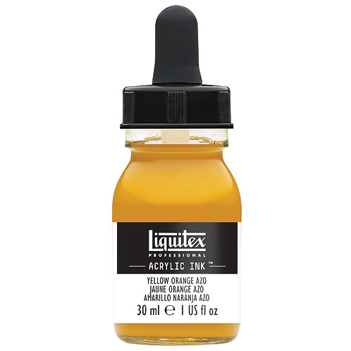414 Liquitex Acrylic Ink 30ml - Yellow Orange Azo