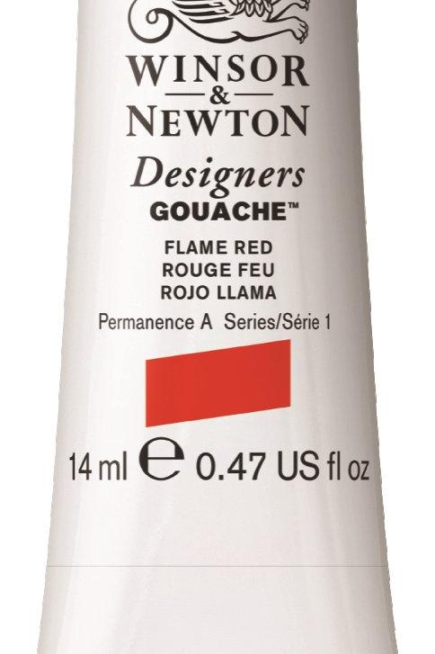 249 W&N Designers' Gouache 14ml - Flame Red