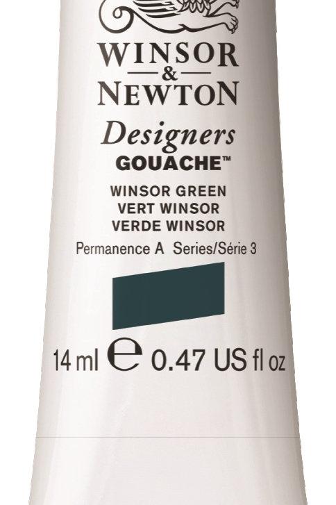 720 W&N Designers' Gouache 14ml - Winsor Green
