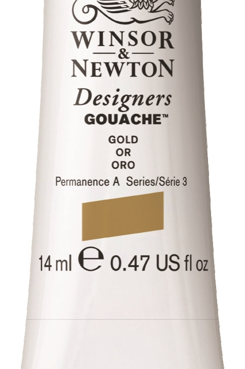 283 W&N Designers' Gouache 14ml - Gold (Imitation)