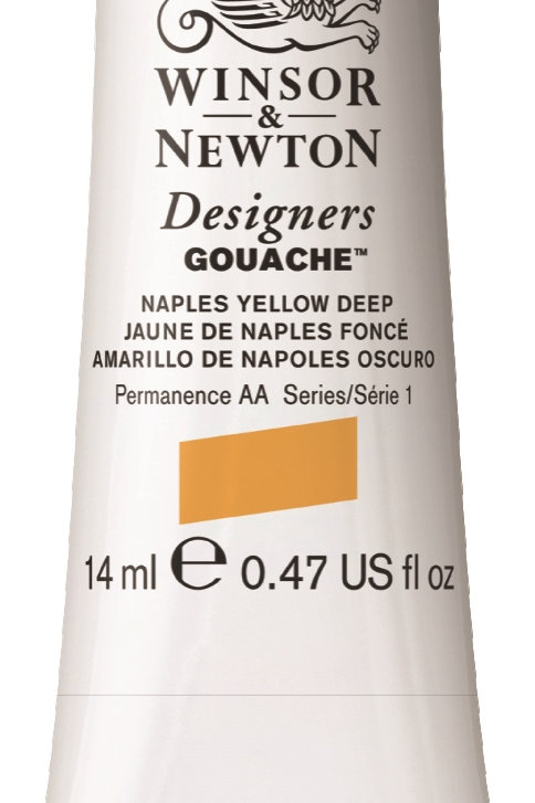 667 W&N Designers' Gouache 14ml - Naples Yellow Deep